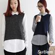 RNCD [Korea best product] boxi loose fit cardigan / pretzel / knit / batwingsleeve / stripe / Women