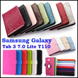 Newly Leather Stand Flip Diamond Retro Case Cover for Samsung Galaxy Tab 3 Lite 7inch T110 Protective Shell Covers Tablet Cases