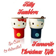 Christmas Gifts / Kitty Tumbler / Office and Home Use / Hot and Cold Drinks /