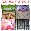 BALMUT (Bantal Selimut) 2 in 1 [ready 54 motif]