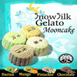 [Last Batch till Next Year] Gelato Snow Skin Mooncake by Olivye Cafe Gelato.FREE DELIVERY on condition. Box of 2pcs and 4 pcs options.