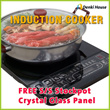 [LH-E4-2] Induction cooker/FREE S/S pot /Real 2000W/Crystal Glass Panel