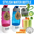 ★NEW★ Stylish Water Bottle with Cup + Free Blender Ball (600ml) Trendy/Convenient/BPA Free/Shaker Protein Powder Drinks/Quick Mixing/Travel/Office/School