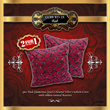 2PCS Pack Glamorous Jewel Coloured Velvet Cushion Covers with ribbon-twisted Rosettes / 7 Colours / 16 X 16inch