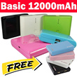 Powerbank Basic 12000mAh Get 1 Mini wallet 12000mAh FOR FREE