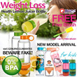 [Qxpress Free-Save $4.99 express]100% QUALITY GUARANTEE Slimming Weight Loss Health Water Bottle Lemon Fruits Vitality Manual Juicer Bottle-Kids and Stickers Arrival-No BPA-Buy 1 Get 1 Free Brush