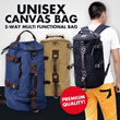Local Delivery *2014 New Arrival 5 Colours Premium Quality* Fashionable Unisex Canvas Bag|Large Capacity 5Way Carry Backpack|Multi Functional Laptop Tablet Gadgets Sports Bag