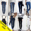 New Item★Special Price !!  Real Skinny Jean / cotton pants / denim / shorts / bendin