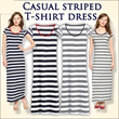 Branded Casual Striped Cotton Long dress / 100% Cotton / 2colors/ Cheapest / SALE / limited stock