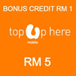 Umobile instant Top UP RM 5  / Please key in mobile number at MyQoo10 after payment