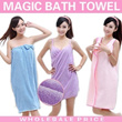Magic Bath Towel-Hot Selling in JAPAN-Soft Cotton Fibre /Can Wearing Towel & Never Slip Off