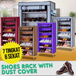[HOT ITEM] SHOES RACK WITH DUST COVER 7Grid 6Layers/Lemari Portabel/Rak Sepatu Kain/Ready 4 Warna