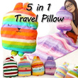NEW ARRIVALS CUTE 5in1 Travel Pillow etc Baby Blanket kids toy CHRISTMAS GIFTS /totoro/ hello kitty/uneck pillow/body pillow /seat cushion/peppa pig/ squishy/ baby