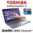 [TOSHIBA]High End Super SLIM Satellite U840t 14inch/i5 Processor/4gb Ram/500gb HDD+32GB SSD/Win8 Premium- 1 Year Warranty