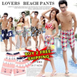 [buy 2 free shipping]lover beach pants/couple pants/summer pants/Men Ladies Shorts/stylish summer wear/L ~2XL