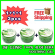 1+1+1!! Free Shipping★3WCLINIC★[POPULAR]100% Aloe Vera Soothing Gel 300g
