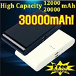 30000mAh 20000mAh 12000mAh Dual USB Power Bank Portable External Battery   Charger for iPhone/iPad/S