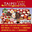 All You Can Eat Steamboat Set at Taipei Cafe!