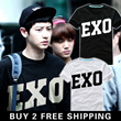 [BUY 2 FREE SHIPPING]2014 New Arrival Mens Cloth/EXO K-POP Star Similar T-shirt/ Stars T-shirt/Korean Star EXO/Short Sleeve