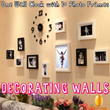 [Free Delivery]Great Creative Decorating Walls W/ One Wall Clock+10 Photos Framess-GDB-Practical and heartwarming gift