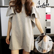 BUY 2 FREE SHIPPING】 Sexy Korea Women Off-Shoulder Dress Peep-shoulder Loose Fit Dress Casual Dress