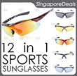 ORIGINAL TREX RIVBOS POLARIZED SPORTS SUNGLASSES 12 IN 1 5 LENSES INCL BICYCLE FISHING BIKE