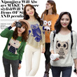 2014 FALL AND WINTER!European Style Owl Pattern Knit Wear/Round Neck Sweater/Long-sleeved Casual Sweater/Ladies Clothes/Warm and Fashion/New Update