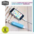 ★  Candy Coloured Portable 2600mAh Power Bank Milk Carton ★