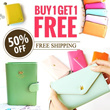 BUY 1 GET 1 FREE /FREE SHIPPING/ Korea hot item purse/women leather wallet/female necessities/pouch bag/coin case/
