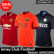 39RB ONLY||JERSEY CLUB FOOTBALL SEASON 2014/2015 ||GRADE ORI||