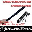 [BMC] STRONG GREEN LASER TORCH / BATON CUM TORCH (STAINLESS STEEL BLACK) [CHEAPEST]