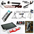 MONOPOD/Flexible Vacuum Holder/Tripod/Phone Clamp/iPad and Tablet Clamp/Zippod