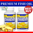 ★MUST BUY!★ Premium Fish Oil with EPA DHA 100 Softgels - 50 Days Supply /Heart Cardiovascular Health/Omega-3- Madre Labs USA