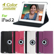360° Rotating Magnetic Leather Case Smart Cover With Swivel Stand For iPad 2 2G#8490