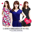 ★7 Styles 106 Colors Dress★Ladies Plus Size Dress Work Dress Casual Dress V-neck Scoop Neck Sleeveless Dress