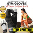 ★KOREA HIT★ Gym Gloves Weight lifting Training Exercise sports fitness Workout long Wrist strap padded Power grip riding cycling bike bicycle motorbike MTB leather silic