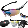 Sunglasses Polarized Sports UV Protection Interchangeable lens Bicycle Exercise Jogging Running Cycling Hiking uni-sex Rivbos Sun Glasses