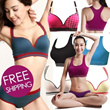 *GroupBuy is ON*[FREEShipping] HOT Sale!! No Rims Super Gathered Sports Bra/ Seamless Sleep yog