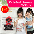 SPECIAL PROMOTION buy one get one printing spandex tshirt. import quality