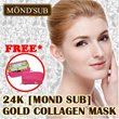 BEST SELLER!!24K[MOND SUB] GOLD COLLAGEN EYE MASK [MOND SUB] GOLD COLLAGEN FACIAL MASK - BEST QUALITY BRING REAL YOUTH-