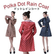 ▶Stylish Polka Dots Rain coat◀GAA GEB GCD- Rainy Awesome Fashion Great travel essential items/ Lightweight thin and comfortable