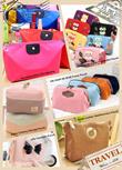 Travel Essential~Zakka Cottony Storage Pouch/Jelly Cosmetic Pouch/Suede Leather Multifunction Pouch/UN JOUR DE REVE Frame Pouch/Dumpling Nylon Storage Bag/Japanese Mr.Kiyan Owl Wallet Pouch