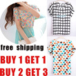 Buy 1 get 1 free buy 2 get 3  free shipping ladies chiffon top chiffon blouse shirt ladies chothing