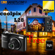 DIGITAL CAMERA NIKON L28 | 20MP | Free Memory 8gb