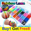 2014 New upgraded version Rainbow Loom Noble Package Buy 1 Get 8FREE pack of Rubber Band Kids Educational Toys Rainbow Loom Deluxe Family Package metal hook