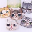 【GOODSSTAR】FREE SHIPPING★Creative Cute Wallets/Small Purse/Mini Coin Money Bag/Cat Face Purse/Zip Wallet/Cartoon Bag/Coin Bag/Wallet★Loving Cat/Tigger/Leopard 6007#