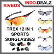1 SET 5 LENSA RIVBOS TOTAL 12 ACCESSORIES  TREX SPORTS POLARIZED SUNGLASSES UNTUK SPORTS (KACAMATA) ETC