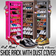 [HOT ITEM] Shoe Rack With Dust Cover/Rak Sepatu/Ready 4 Warna