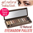 NATURAL LOOK EYESHADOW PALETTE - 12 NATURAL SHADE OF COLORS - Eyeshadow and brush included