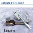 [SAMSUNG] bluetooth earphone S5 Black Bisa 2hp bisa dengar music